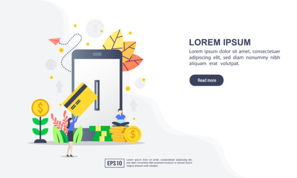 Download Free Online Payment Flat Design Concept Graphic By Efosstudio for Cricut Explore, Silhouette and other cutting machines.