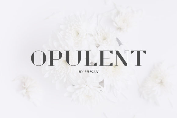 Print on Demand: Opulent Serif Fuente Por MuSan