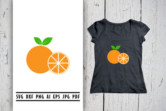 Download Free Orange Fruit Clip Art Graphic By Vectorbundles Creative Fabrica for Cricut Explore, Silhouette and other cutting machines.