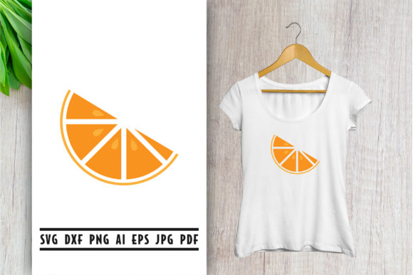 Orange Slice Svg Clip Art Graphic By Vectorbundles Creative