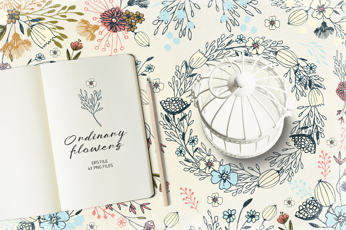Download Free Ordinary Flowers Graphic By Webvilla Creative Fabrica for Cricut Explore, Silhouette and other cutting machines.
