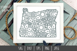 Oregon State Mandala Zentangle Graphic By SavoringSurprises