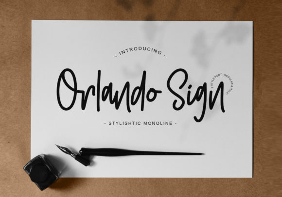 Print on Demand: Orlando Script & Handwritten Font By Muntab_Art
