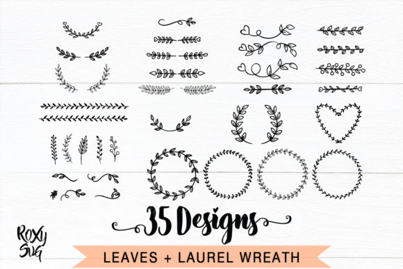 Print on Demand: Ornament Dividers and Laurel  Wreaths Graphic Crafts By roxysvg26