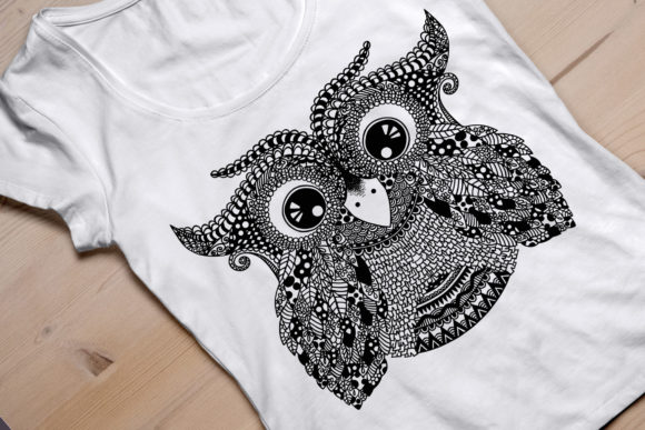 Owl Doodle Detailed Cut Svg and Png Graphic Crafts By Our Design Space - Image 2