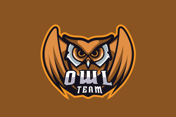 Owl Team E-Sports Logo Graphic