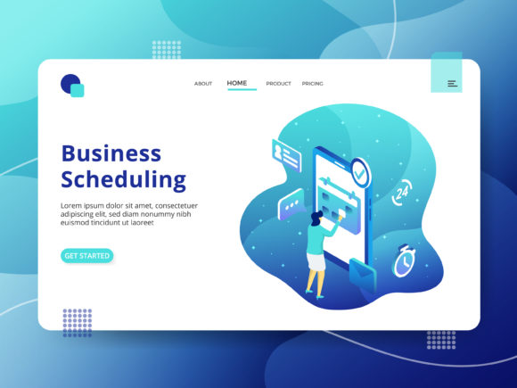 Page Business Scheduling Graphic Illustrations By Twiri