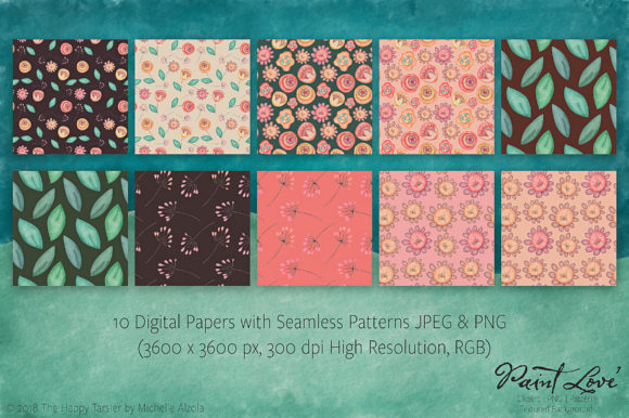 Print on Demand: Paint Love Clipart, Textures & Patterns Graphic Illustrations By Michelle Alzola - Image 5