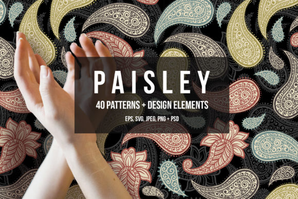 Paisley Patterns Collection Graphic Patterns By ilonitta.r