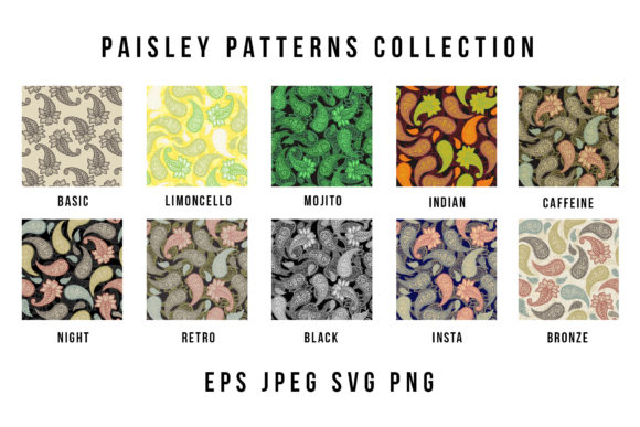 Paisley Patterns Collection Graphic Patterns By ilonitta.r - Image 8
