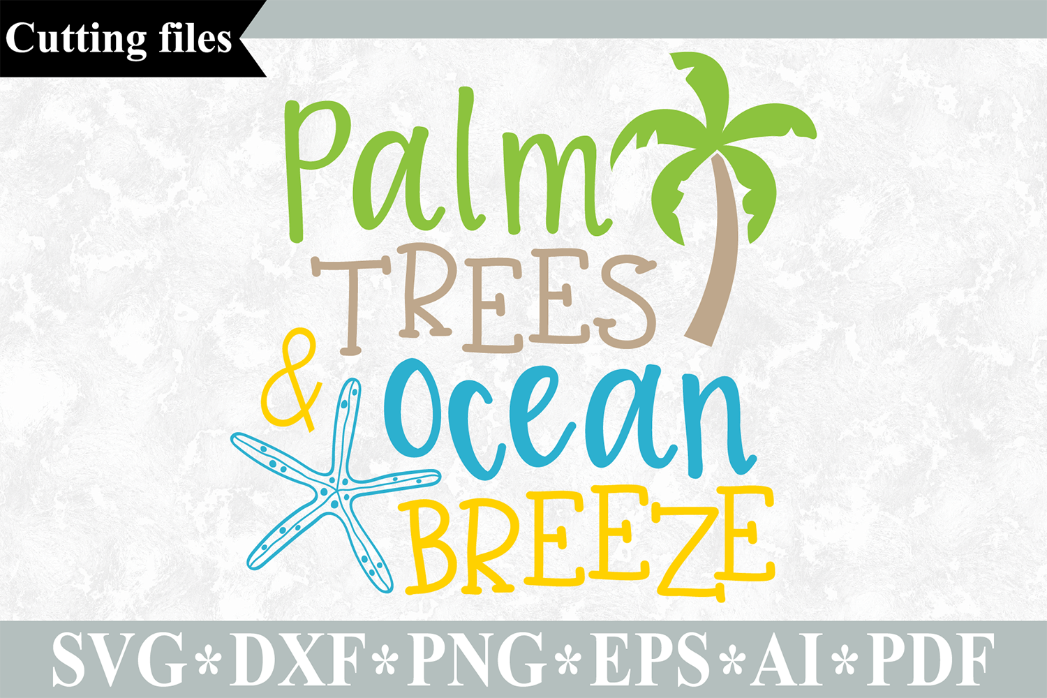 Download Free Palm Trees Ocean Breeze Summer Beach Svg Graphic By Vr Digital for Cricut Explore, Silhouette and other cutting machines.