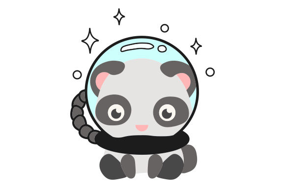 Panda Astronaut Animals Craft Cut File By Creative Fabrica Crafts