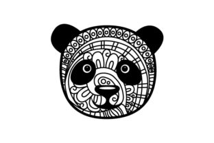 Panda Head. Mandala Line Art Style (for Coloring Book) Craft Design By Creative Fabrica Crafts