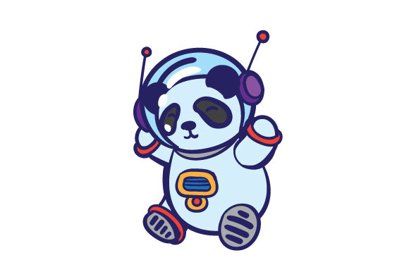 Panda in Spacesuit Craft Design By Creative Fabrica Crafts Image 1
