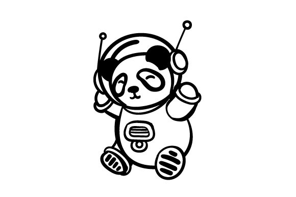 Panda in Spacesuit Craft Design By Creative Fabrica Crafts Image 2