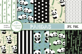 Pandas Paper Graphic By poppymoondesign