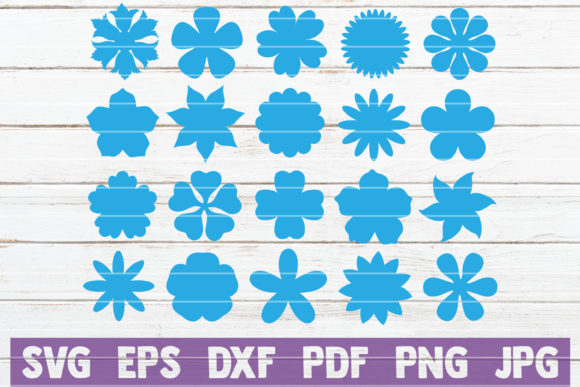 Download Free Paper Flower Templates Svg Bundle Graphic By Mintymarshmallows for Cricut Explore, Silhouette and other cutting machines.
