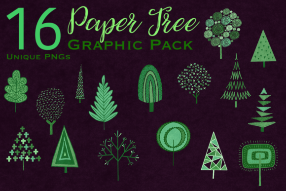 Print on Demand: Paper Tree Graphic Pack Graphic Illustrations By BellaBoo