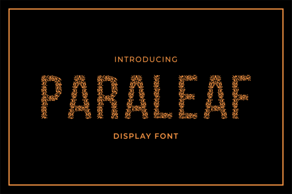 Print on Demand: Paraleaf Decorative Font By MENK Studio