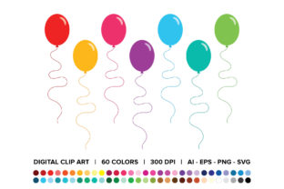 Party Balloon Clip Art Graphic By Running With Foxes