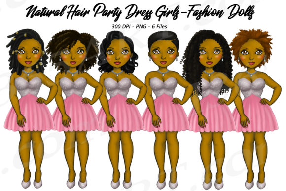 Party Girl Natural Hair Illustrations Graphic Illustrations By Deanna McRae