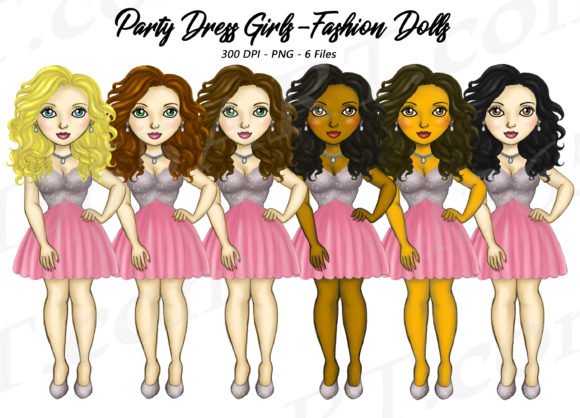 Party Girls Beauty Fashion Illustrations Graphic Illustrations By Deanna McRae