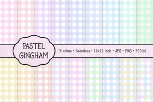 Pastel Gingham Graphic By JulieCampbellDesigns