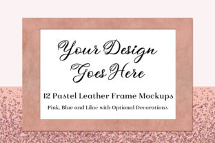 Pastel Leather Frame Mockups Graphic By SapphireXDesigns