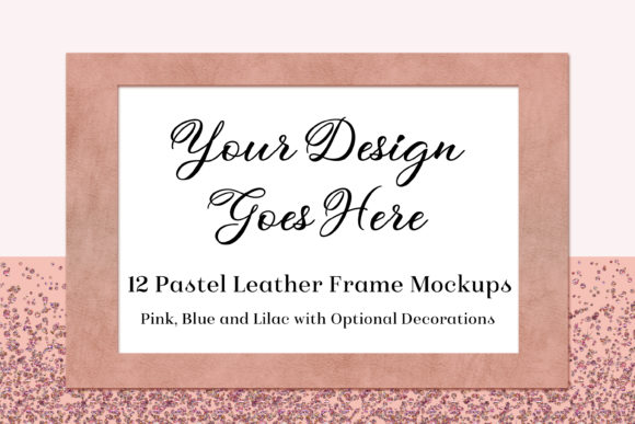 Pastel Leather Frame Mockups Graphic By SapphireXDesigns Image 1