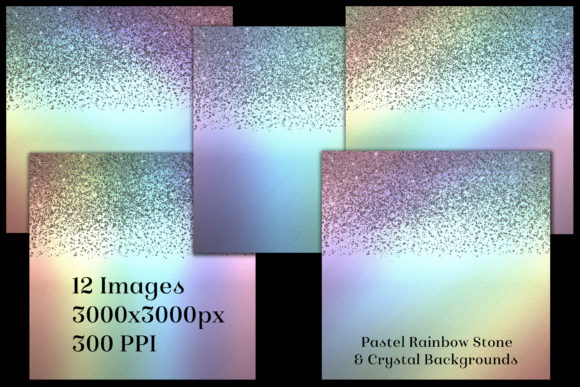 Pastel Rainbow Stone Crystal Backgrounds Graphic By SapphireXDesigns Image 2