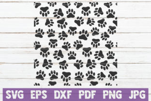 Download Free Paw Pattern Cut File Graphic By Mintymarshmallows Creative Fabrica for Cricut Explore, Silhouette and other cutting machines.