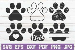 Paws SVG Bundle | Cut Files Grafik von MintyMarshmallows