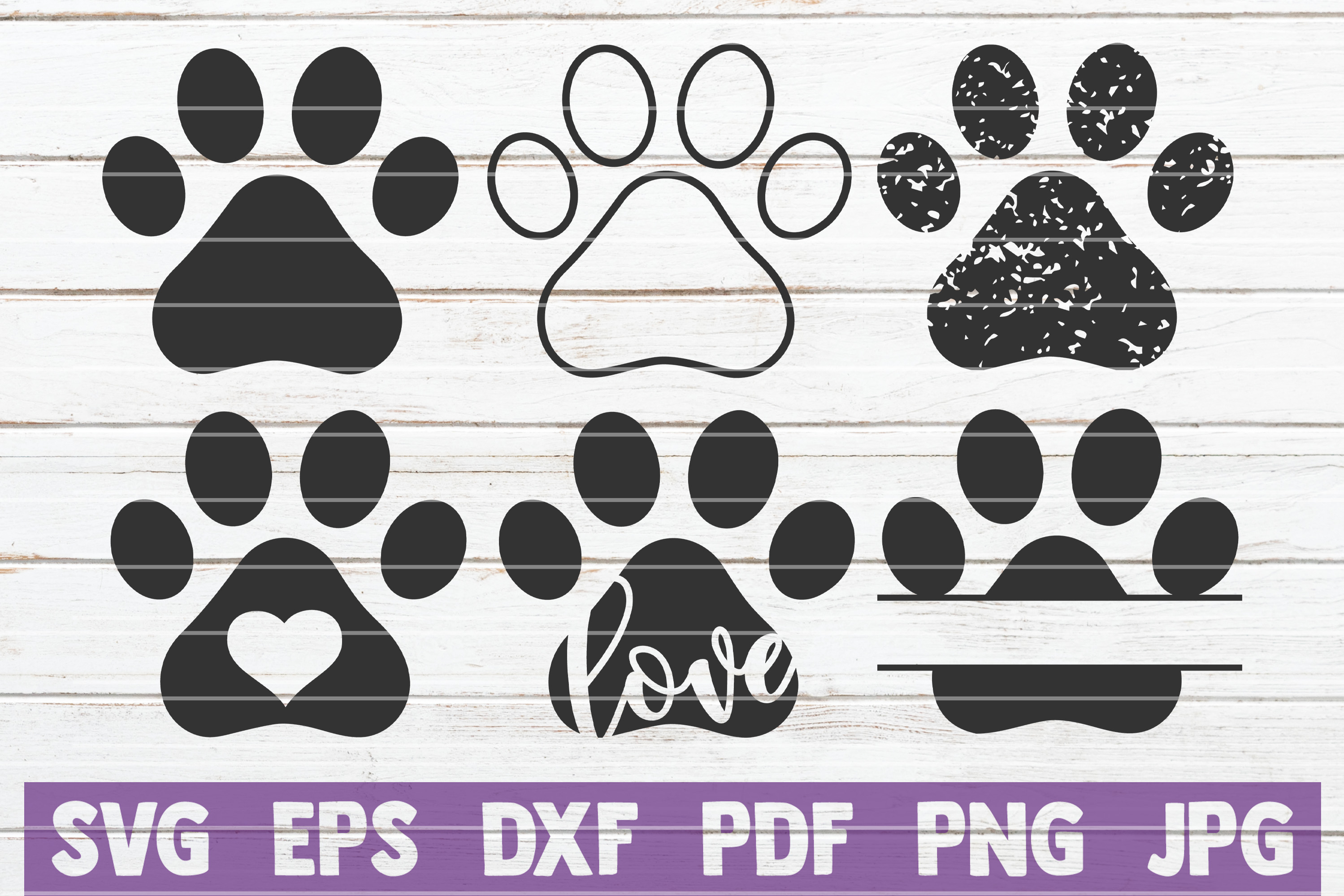 Download Free Paws Bundle Cut Files Graphic By Mintymarshmallows Creative for Cricut Explore, Silhouette and other cutting machines.