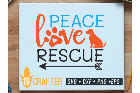 Print on Demand: Peace Love Rescue Animal Svg Cut File Graphic Crafts By great19