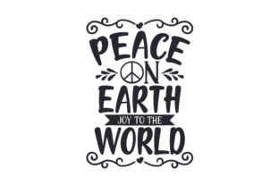 Peace on Earth, Joy to the World Craft Design By Creative Fabrica Crafts