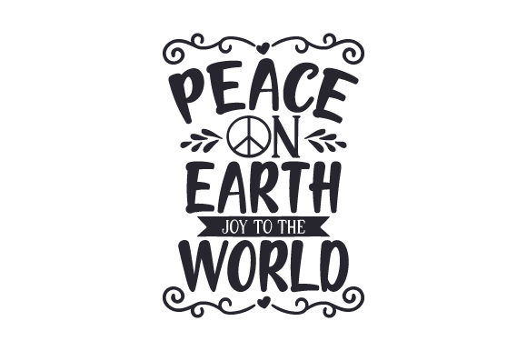 Download Free Peace On Earth Joy To The World Svg Cut File By Creative Fabrica Crafts Creative Fabrica for Cricut Explore, Silhouette and other cutting machines.