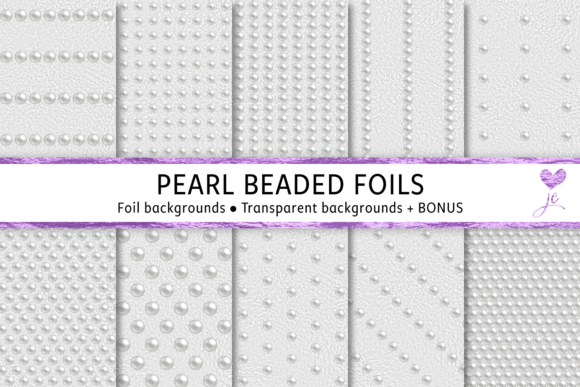 Print on Demand: Pearl Beaded Foils Graphic Textures By JulieCampbellDesigns