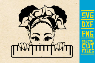 Download Free Peeking Girl In School Afro Puffs Graphic By Svgyeahyouknowme for Cricut Explore, Silhouette and other cutting machines.