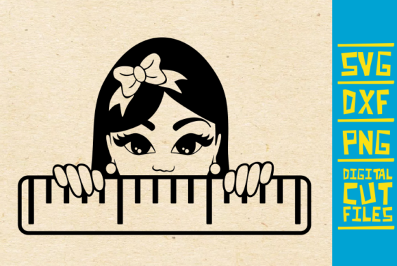 Download Free Peeking Girl With Bow Graphic By Svgyeahyouknowme Creative Fabrica for Cricut Explore, Silhouette and other cutting machines.