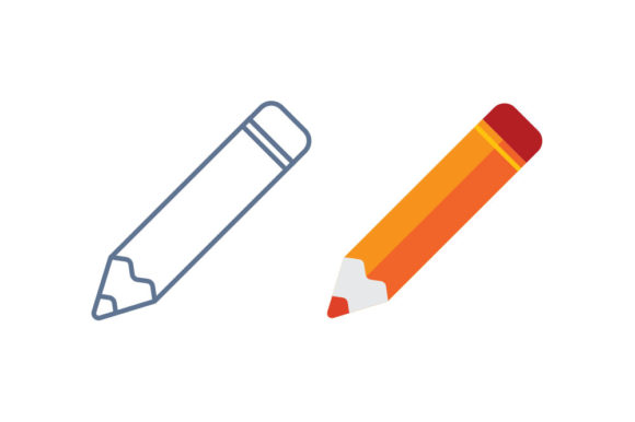 Pencil Line/Color Icon Graphic By DonMarciano