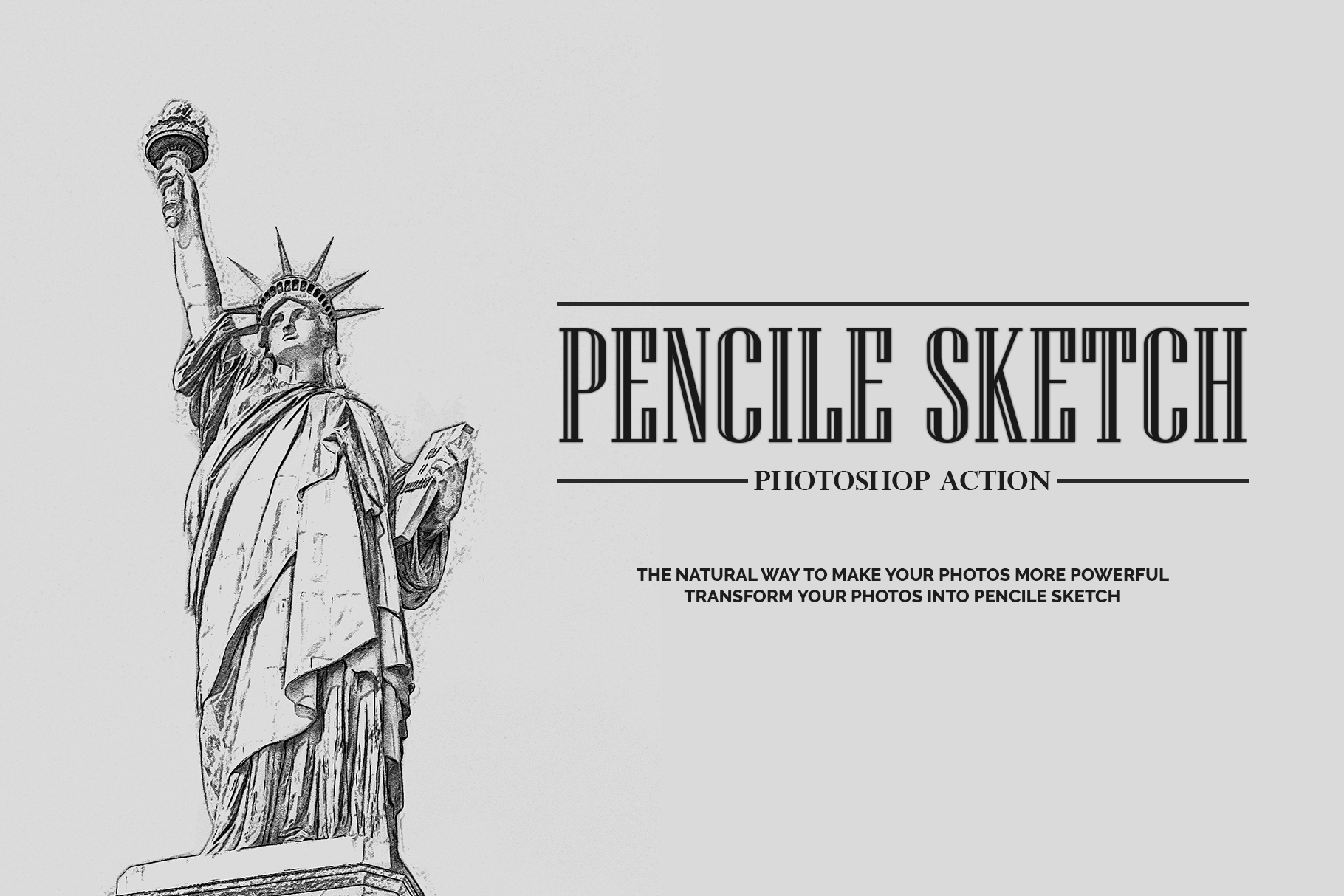 Download Free Pencil Sketch Photoshop Action Graphic By Jubair Haider for Cricut Explore, Silhouette and other cutting machines.