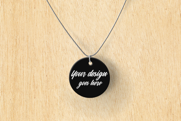 Pendant Product Mock Up Set Graphic Design Item