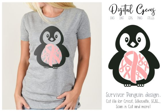 Penguin Breast Cancer Survivor Design Graphic By Digital Gems