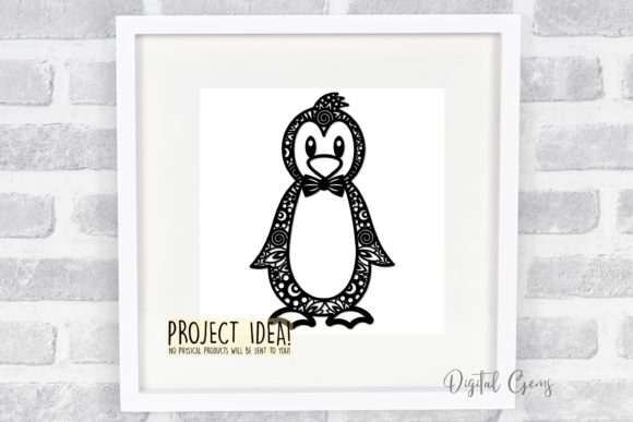 Penguin Paper Cut Design Graphic By Digital Gems Creative Fabrica