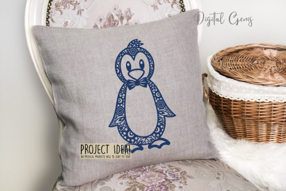 Penguin Paper Cut Design Graphic By Digital Gems Image 5