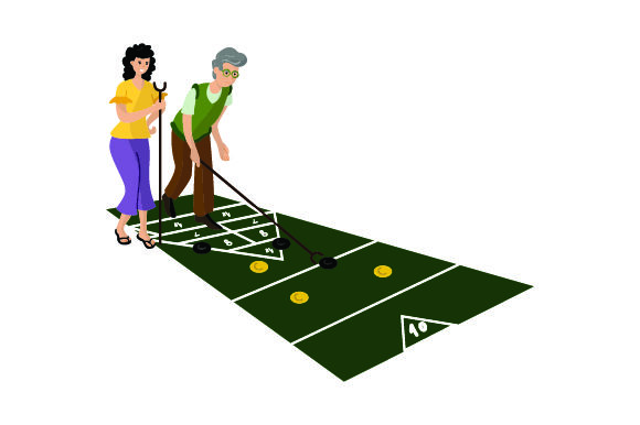 People Playing Shuffleboard Games Craft Cut File By Creative Fabrica Crafts