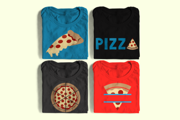 Pepperoni Pizza Set Graphic Crafts By DesignedByGeeks