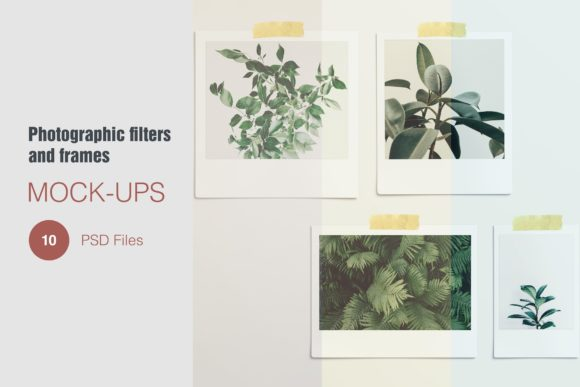 Photographic Filter and Frame Mockups Graphic Product Mockups By graphiccrew
