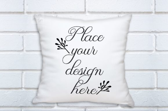 Print on Demand: Pillow Mock Up Square White Psd Cushion Graphic Product Mockups By Leo Flo Mockups
