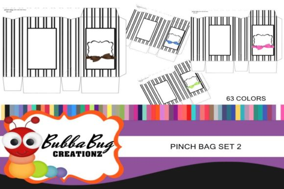 Pinch Bag Set 2 Graphic Crafts By BUBBABUG
